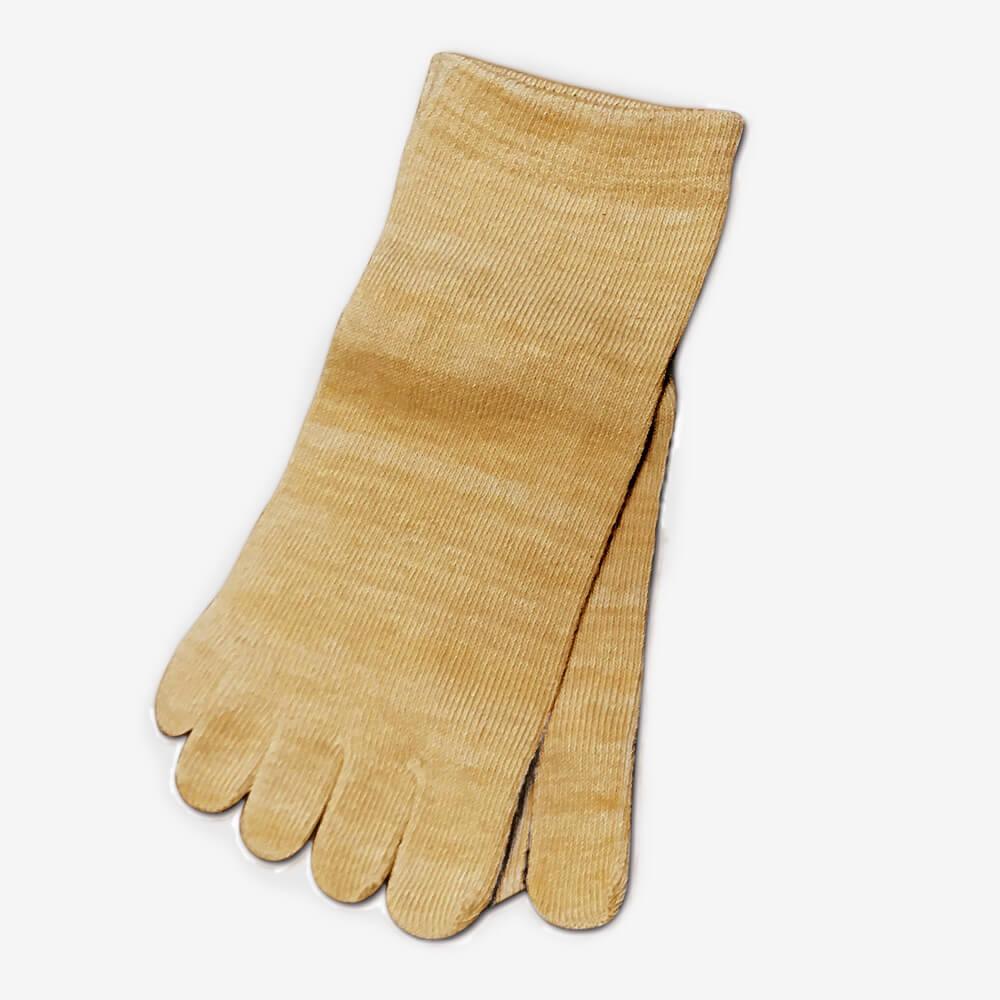 柿渋染め/消臭・抗菌5本指靴下