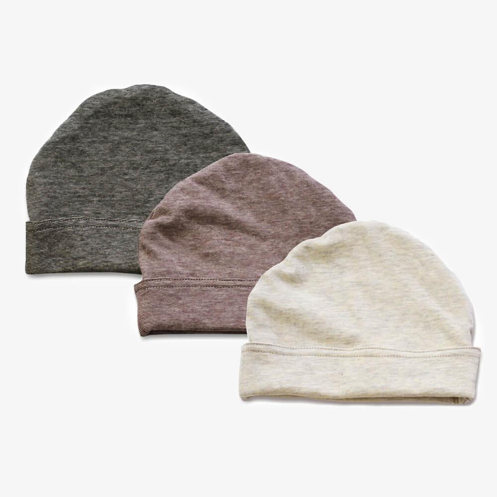柿渋染め/オーガニック綿 消臭・抗菌 ベビー帽子
