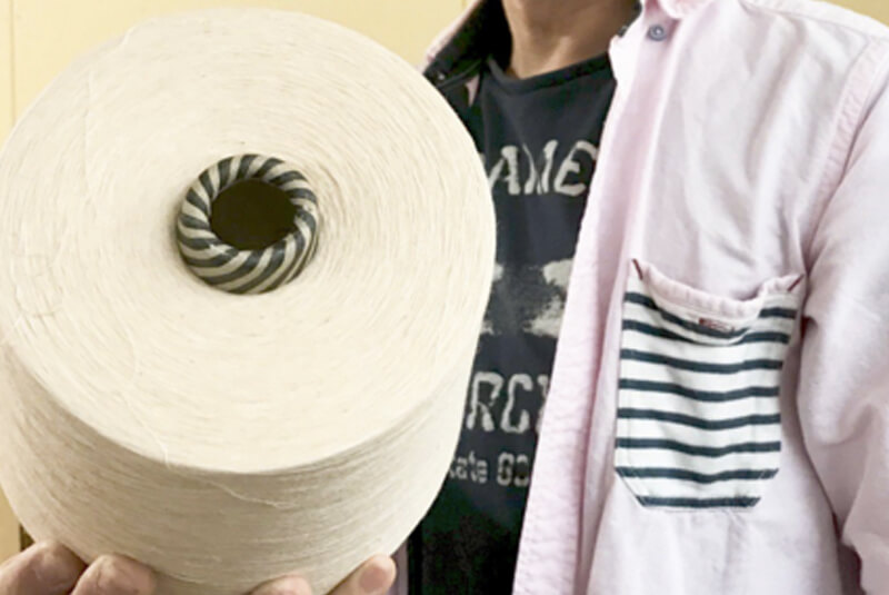 オーガニックコットンからできた糸