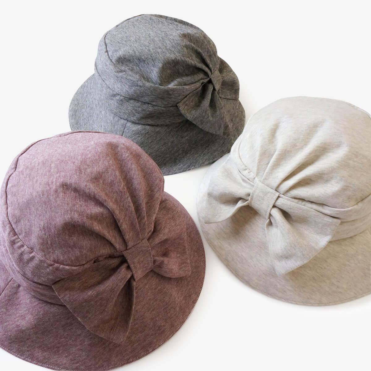 柿渋染め/オーガニック綿 消臭・抗菌レデース帽子
